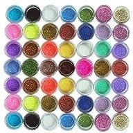 45PC nail art glitter powder dust tip…