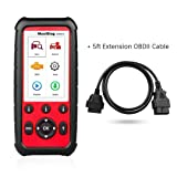 MaxiDiag Autel MD808 Pro with 5ft Extension Cable All System OBDII Scanner(Advanced MaxiCheck Pro and MD802) Oil and Battery Reset Registration, Parking Brake Pad Relearn,SAS,SRS,ABS,EPB,DPF,BMS (Tamaño: MD808ProCable)