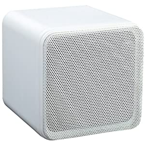 4'' 80W SURROUND SOUND BOOKSHELF CUBE SPEAKERS WHITE (SUPPLIED AS A PAIR)