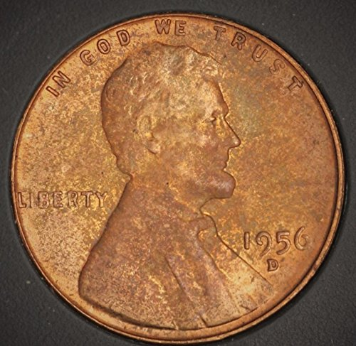 1956 D Lincoln Wheat Reverse Penny 1 Cent 1956-D MS-67 RD Red Penny MS-67 RD Fiduciary Grading & Attribution (1956 D Penny compare prices)