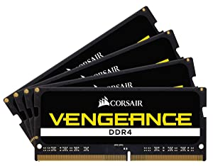 CORSAIR VENGEANCE SODIMM 32GB (4x8GB) DDR4 4000 C19 Laptop Memory Kit 1.35v for Asrock X299E-ITX/AC (Color: DDR4, Tamaño: (4 x 8GB))