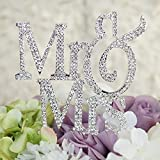 1 X Mr & Mrs Monogram Silhouette Rhinestone Wedding Cake...