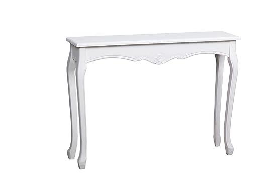 Adda Home Nimes Console, legno, bianco/beige, 80x 30x 78cm
