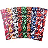 COOLOMG (Pair) Men Women Compression Arm Sleeves UV Protection Digital Camo Pink Black Small