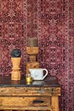 Vlies Tapete orientalisches Wandteppich Muster bordeaux rot...