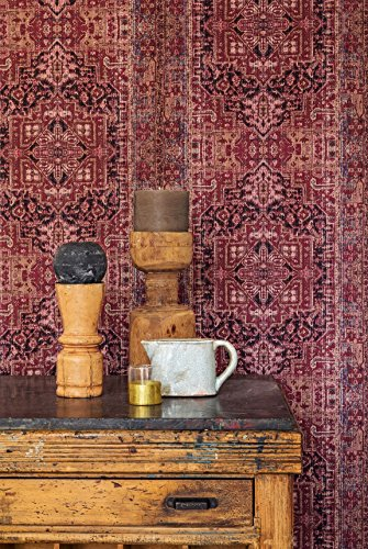 vlies tapete orientalisches wandteppich muster bordeaux. Black Bedroom Furniture Sets. Home Design Ideas