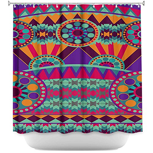 Shower Curtain Artistic Designer Stylish, Decorative, Unique, Cool, Fun, Funky Bathroom - Tribal Ethnic