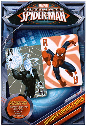 Ultimate Spiderman Jumbo Playing Cards - Spiderman Card Deck by Cardinal - 1