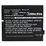 Akku-King Battery compatible with Rollei Bullet 3S 4S 5S / Actionpro SD20F / Hama Action-Cam HD Star 95287 - replaces DS-SD20 - Li-Ion 900mAh