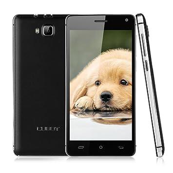 5'' CUBOT S200 IPS HD Écran HotKnot 3G Android 4.4 MTK6582 Quad Core Téléphone Portable Débloqué Double SIM Dual Standby 1G RAM 8G ROM Smartphone Wake Gesture Air Gesture OTG OTA GPS WIFI Noir