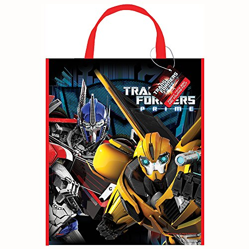 "Unique Large Plastic Transformers Favor Bag, 13"" x 11"" - 1"