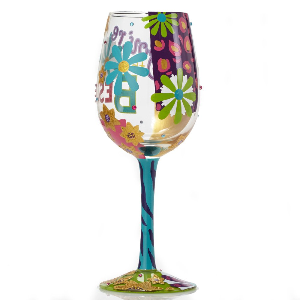 Lolita You're the Best Painted Artisan Wine Glass