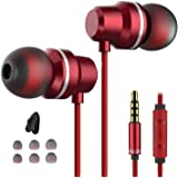 Earbuds Ear Buds in Ear Headphones Wired Earphones with Microphone Mic Stereo and Volume Control Waterproof Wired Earphone Compatible with Mp3 Players Tablet Laptop 3.5mm (Black-1)