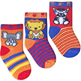 New Born Soft Cotton Rich Baby Boys My First Socks (3 Pair Multi Pack)