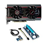 RADEON RX 570 OC 4GB GDDR5 and Riser for Crypto Coin ETH Ethereum Zcash ZEC Bitcoin