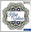 ARPAN Colour Therapy Art Colouring Book - Relax With Colour - Patterns (+ Notebook)