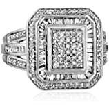 Sterling Silver Diamond (1cttw, I-J Color, I2-I3 Clarity) Fashion Ring