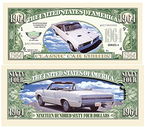 Set of 10 - 1964 Pontiac GTO Novelty Money Bill - 1