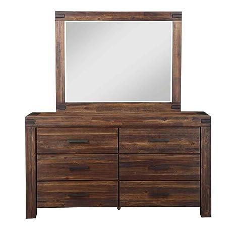 Dresser in Brick Brown Finish