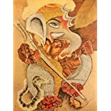 "Dolls Of India ""Abstract Ganesha"" Reprint On Paper - Unframed (71.12 X 55.88 Centimeters)"