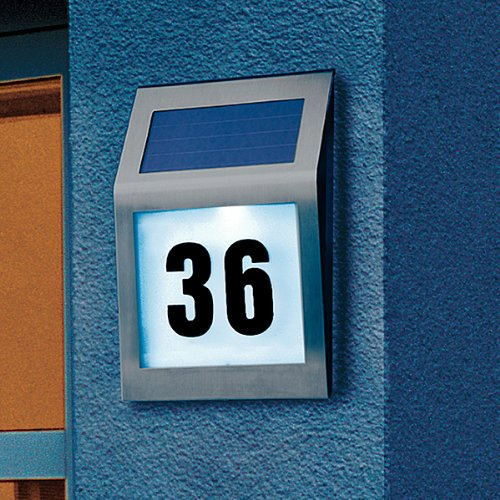 solar powered house numbers. Solar-powered light House