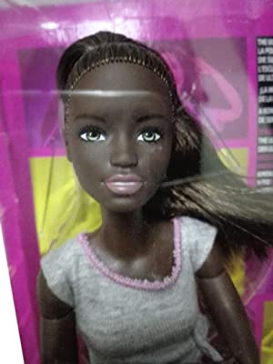 Barbie Made To Move Doll Dark Skin 2017 Version Fashions Graphic Design Pack Ethinic Doll