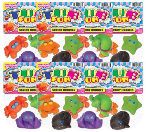 Ja-Ru Tub Fun Squirt Buddies Favor Sea Life Party Pack front-135840
