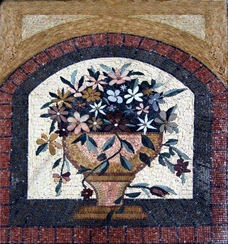 Lovely x uquot Flower Mosaic Art Tile Mural Wall Decor
