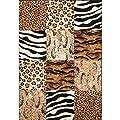Lalee  347162727  Moderner Designer Patchwork Teppich / Muster : Leopard Zebra Tierfell - Optik / Gr�sse: 80 x 150 cm