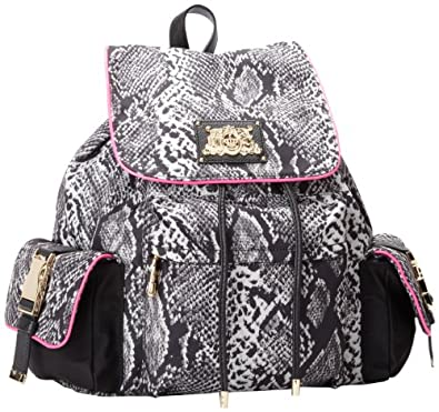 Juicy Couture Penny Nylon Backpack YHRU3714 Backpack,MULTI SNAKE,One Size