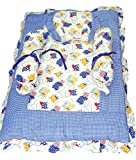 Baby Basics - Blue & White Bedding Set