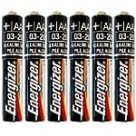 Six Energizer AAAA Alkaline Batteries...