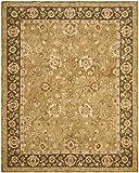 Safavieh Taj Mahal Collection TJM125B Handmade Hand Spun Wool Area Rug, 6 by 9-Feet, Gold/Chocolate