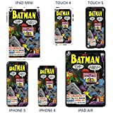 DC Marvel Comic book cover case for Apple iPad Mini - T810 - DC Batman And Robin - Black