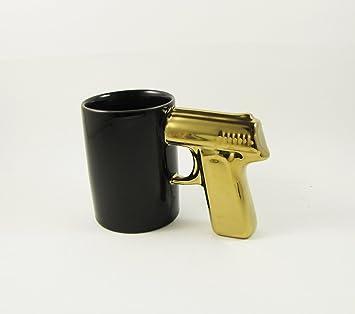 Gun pistolet poign e poign e caf tasse en c ramique for Pistolet cuisine