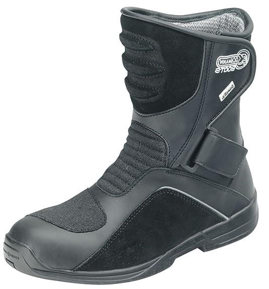 «taifun imperméable sympatex pour moto avec fermeture velcro chaussures bottines noir