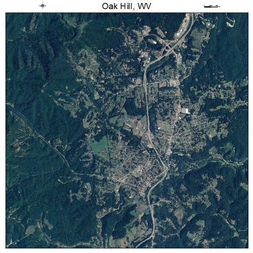 Aerial Photography Map of Oak Hill, West Virginia