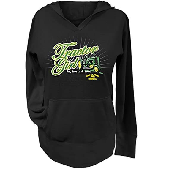 John Deere Tractor Girls Burnout Thermal Hood