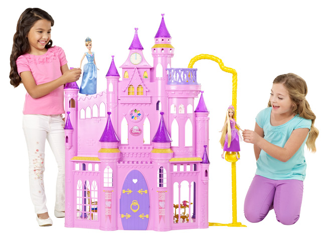 Girls can play out their favorite princess stories with the three