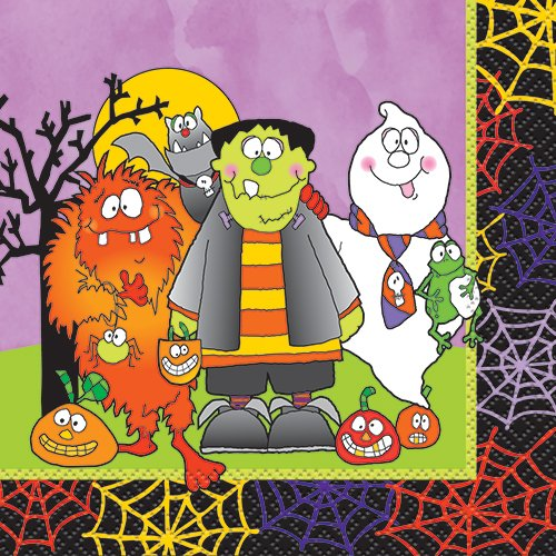 Little Monsters Halloween Beverage Napkins, 16ct - 1