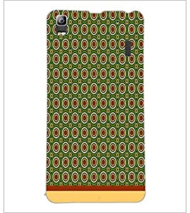 PrintDhaba Circular Pattern D-1532 Back Case Cover for LENOVO A7000 PLUS (Multi-Coloured)