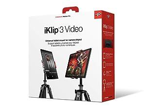IK Multimedia iKlip 3 Video Universal Tripod Mount for iPad and tablet with Ball & Socket Joint (Tamaño: Tripod)