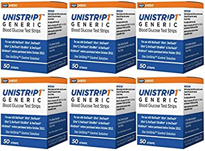 Unistrip Test Strips for use with OneTouch Ultra Meters - Combo Deal (8 boxes of 50 ct)