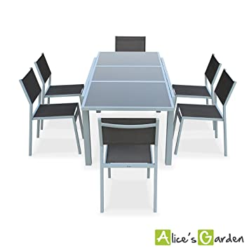 Alice's Garden - Salon de jardin table extensible ...