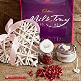 Special Mum Mother's Day Gift Collection -Cadbury Milk Tray, Special Mum Pot Pourri Jar, Mum Love You to The Moon and Back Candle and Lovely White Wicker Heart By Moreton Gifts