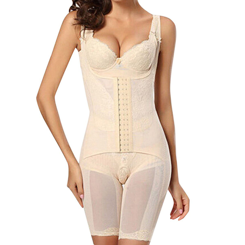 SODIAL(R) Damen Body Shaper Mieder Bodysuit Miederbody Miederhose Taille Bauchweg XXL Weiss günstig