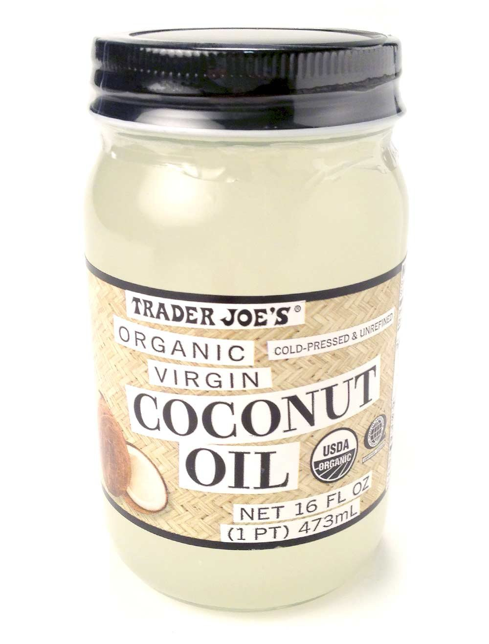 Trader Joe's Coconut Oil Extra Virgin Organic 16 FL oz x 2 Free ...