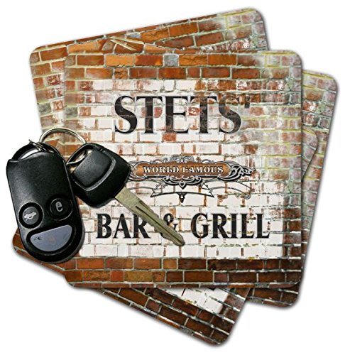STETS' Bar & Grill Brick Wall Coasters - Set of 4 free shipping 100% tested washing machine board for haier pc board program 50 66gm xqb50 66g xqb50 i xqb52 38 xqb55 a on sale