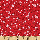 44'' Wide Glitzmas Vines Holiday Fabric By The Yard
