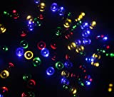 ZITRADES Solar 58 ft /17.5m Long, 200 LED 8 Modes Multi color Solar Fairy String Lights with waterproof switch for outdoor, gardens, homes, Christmas party